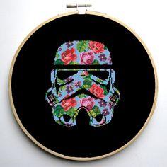 Star Wars Cross Stitch pattern Floral Stormtrooper | Craftsy