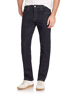 J BRAND Kane Straight-Leg Jeans - Resonate - Size 38