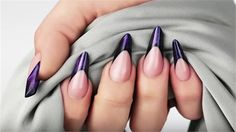 Sculpt Gothic Almond Nails Using Crystal Nails Galactic Builder Gel