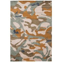 Camouflage Rug Wool With Gold Metallic Thread (750.125 RUB) ❤ liked on Polyvore featuring home, rugs, brown, central asian rugs, woven rug, brown wool rug, wool rugs, handmade rugs and brown area rugs