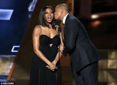 Terrence Howard's growing list of ex-wives probably chortled at his Empire co-star's reactions at the Emmy's on Sunday night. The had yet another awkward award show appearance Empire Tv Show Cast, Awkward Kiss, Top Drama, Most Popular Tv Shows, Taraji P Henson, Jon Hamm, The Emmys, American Actress, Strapless Dress Formal