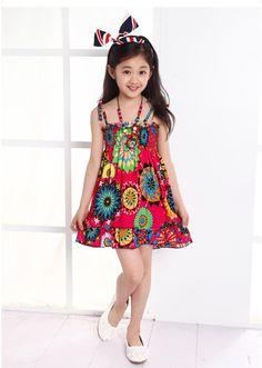 Summer Style Butterfly Girl Dress Bohemian Dress For Girls Princess Dresses Baby Girls Clothing Cotton Kids vestidos9
