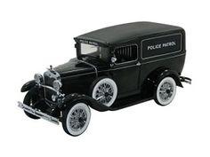 1931 Ford Panel Car Police Patrol 1/18 Black