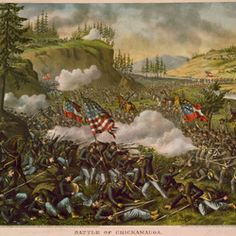 Battle of Chickamauga by Kurz & Allison, ca. 1890 (Library of Congress)