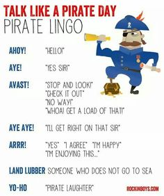 Pirate lingo