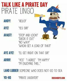 Pirate lingo