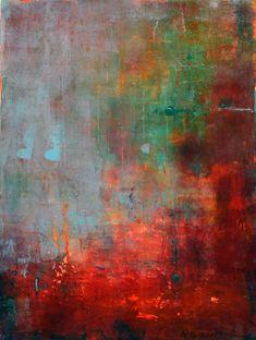 """""""Óxido Azul"""", acrílico sobre lienzo, 30 x 40 cm"""