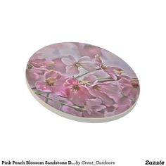 Pink Peach Blossom Sandstone Drink Coaster
