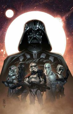 Darth Vader y Storm Trooper
