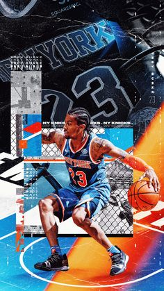 commissioned collaboration between New York Knicks and Tyson Beck. Featuring wallpapers for all 15 players on the Knicks Roster. Basketball Posters, Basketball Design, Basketball Pictures, Basketball Videos, Basketball Art, Messi, Neymar, Nba New York, New York Knicks