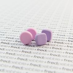 Basic Square Studs - Polymer Clay Earrings