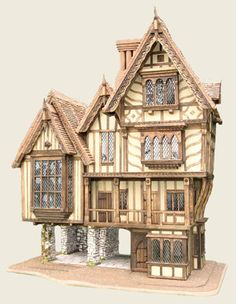 """The Cross Keys Inn"", by Triggerpond Dollhouses"