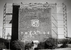 87 Drive-in Theater Print, Abandoned Movie House, Drivein Theatre, Fredrickburg Texas Photography