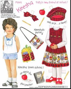 Amy, Kayla, Keesha, Kendra, Mae, Nan, Patty, Samantha Paper Dolls. Based on Simplicity Patterns. Page 7 (of 24)