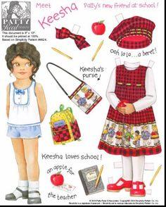 Amy, Kayla, Keesha, Kendra, Mae, Nan, Patty, Samantha Paper Dolls. Based on Simplicity Patterns. Page 7 (of 24)