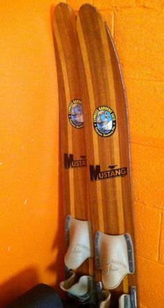 Wood Water Skis by CafeRoche on Etsy, $99.00