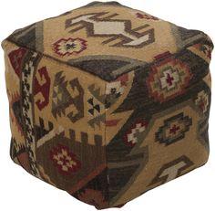 Standard Chocolate/Burgundy Cube Pouf
