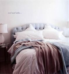 myidealhome:  cool and calm: the perfect bed (via Interior inspirations)