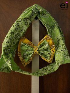 Faixa turbante regulável Verde para Mães - M: R$25 Laço Amarelo e Verde para Filhas - M: R$12
