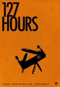 #127hours. Minimal design poster.