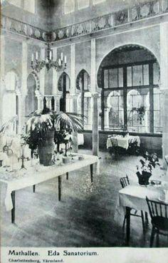 Eda kommun Charlottenberg Eda Brunn Sanatorium Matsalen tidl 1900-tal