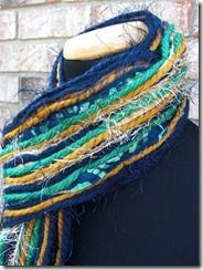Notre Dame Fighting Irish Inspired Skinny Scrappy Scarf! Go Blue and Gold!