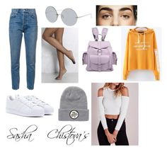 """Style of Sasha Chistova"" by dariannswan ❤ liked on Polyvore featuring 10 Crosby Derek Lam, WithChic, Grafea, Rare London, Linda Farrow, Billabong, adidas and Sashachistova"