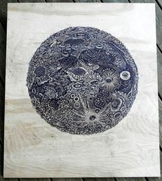 Woodcut from Tugboat Printshop. http://www.thisiscolossal.com/2012/12/carving-the-moon-a-new-woodcut-print-by-tugboat-printshop/