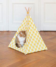 Tienda de indios para el gato DIY
