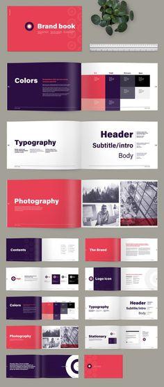 Brand Guidelines Design, Brand Guidelines Template, Branding Template, Brand Identity Design, Branding Design, Layout Template, Logo Guidelines, Identity Branding, Indesign Templates