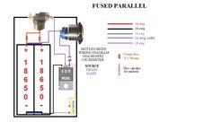 parallel battery mosfet wiring diagram box mod schematy diy pinterest vape. Black Bedroom Furniture Sets. Home Design Ideas