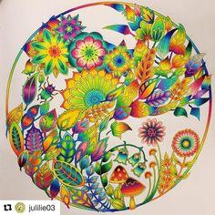 86 отметок «Нравится», 2 комментариев — Mandalas (@coloring_loves) в Instagram: «#Repost @julilie03 (@get_repost) ・・・ #johannabasford #enchantedforest #prismacolor #artherapy…»