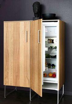 Fridge-hidden-in-a-fancy-cupboard-with-storage-other-side-Metod-hyttan-high-cabinet-for-fridge-freezers