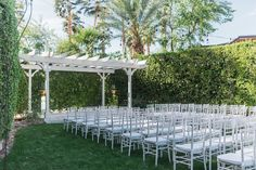 riviera hotel palm springs outdoor lawn for wedding ceremonies