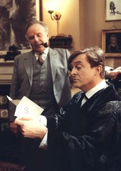 Jeremy Brett had amazing, glorious hair - that pomade stuff was awful. LOVE to see it down and free!