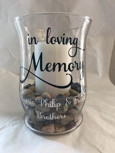 Gifts For Nan, Gifts For Family, Prayer Jar, Reunion Decorations, Family Reunion Shirts, Crickets, Glass Holders, Memorial Gifts, Jitter Glitter