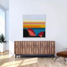 "Kara Hines on Instagram: ""Landscape series #5 ................................... Acrylic on canvas 30"" x 30"""" Kara, Cabinet, Landscape, Canvas, Storage, Furniture, Instagram, Home Decor, Clothes Stand"