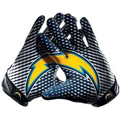 for Hubby-Nike San Diego Chargers Vapor Jet 2.0 Team Authentic Series Gloves