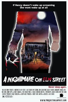 A Nightmare On Elm Street (1984 )   Friday the 13th inspired alt poster art