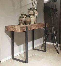Furniture, Furniture Decor, French Kitchen Decor, Steel Furniture, Rustic Furniture, Table, Home Deco, Teak Side Table, Live Edge Furniture