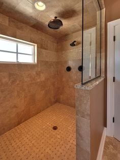 I've always wanted a walk-in shower no glass to clean. Love it 2019 I've always wanted a walk-in shower no glass to clean. Love it The post I've always wanted a walk-in shower no glass to clean. Love it 2019 appeared first on Shower Diy. Master Bathroom Shower, Bathroom Renos, Downstairs Bathroom, Bathroom Showers, Design Bathroom, Showers Without Doors, Shower Installation, Walk In Shower Designs, Master Bath Remodel
