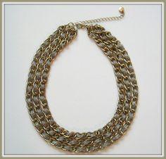 Loft Triple Chain Necklace