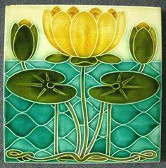Керамическая плитка, примерно 1900-е годы / Art Nouveau Tile ca.1900