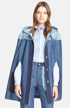 See+by+Chloé+Hooded+Patchwork+Cape+available+at+#Nordstrom