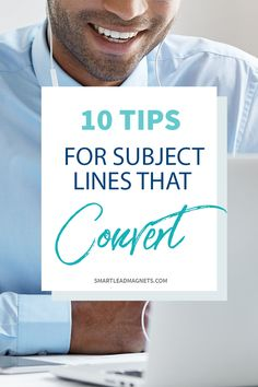 Subject Lines Tips   Email Marketing   Email Subject Lines   Writing Subject Lines   Increase Click Through