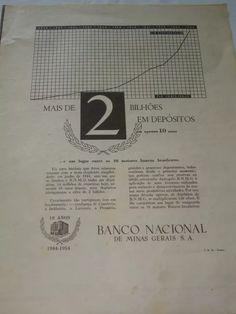 (1) Antiga Propaganda Banco Nacional- Anos 50 - R$ 14,00 em Mercado Livre