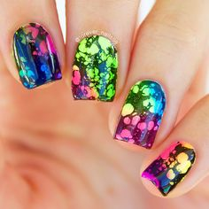 Water Spotted Nail Art #nails #nailart #waterspottednails