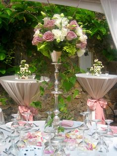 Centerpieces White Orchid Wedding Hawaii Planners