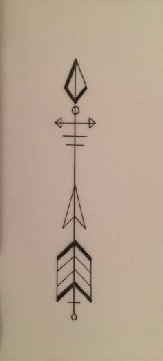 Arrow tattoo designed by my sister.