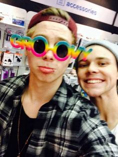 Luke those are ugly glasses and you're even uglier with them on.